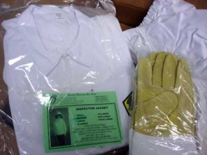 The Beekeeper's suit and gloves