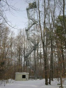 The photobiology tower at the Smithsonain Environmental Research Center