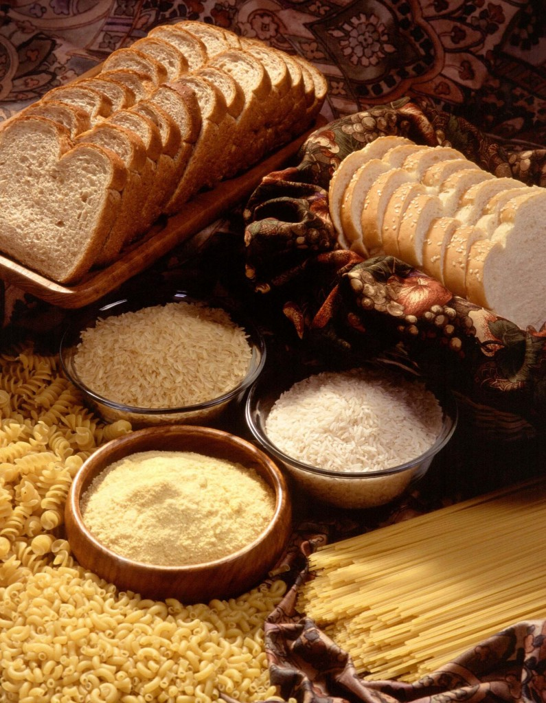 Image: Bread, flour, cornmeal, rice and pasta. (Credit: Scott Bauer/USDA)