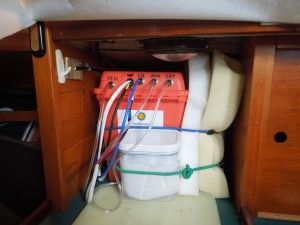 Image: CO2 data monitoring box in the ship's galley (Credit: SERC)