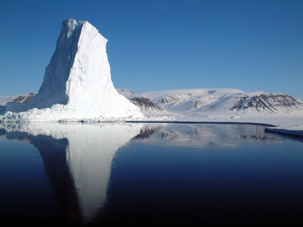 Image: Iceberg in  Baffin Bay, their final destination (Credit: US Air Force)