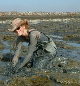 Lisa Schile in a marsh in San Francisco. (Courtesy of Lisa Schile.)