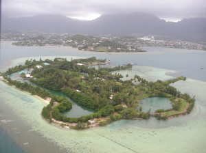 Aerial view of Coconut Island