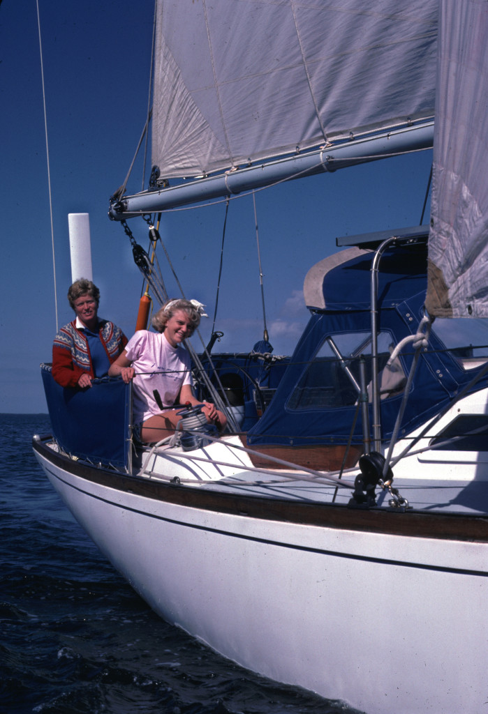 Lenore and daughter on boat