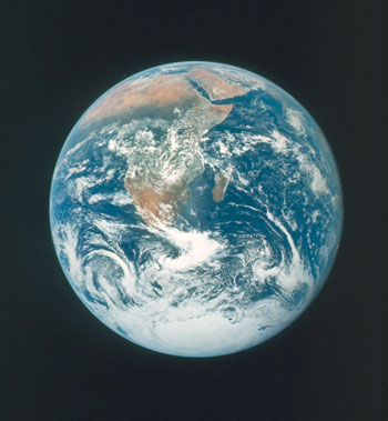 NASA photo of Earth from space.