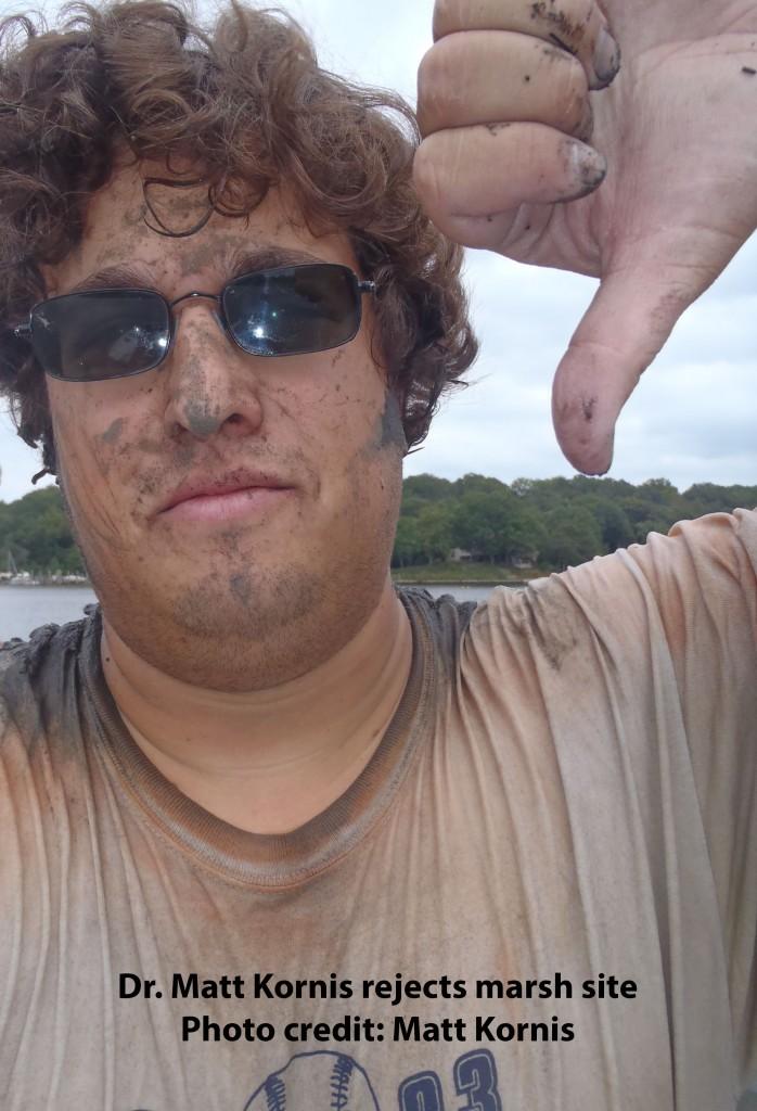 Image: Matt Kornis, during a day navigating a marsh (Credit: Matt Kornis)