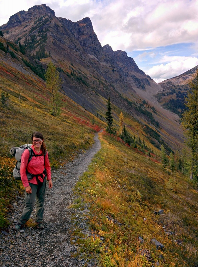 Tepolt pausing in the North Cascades section of the Pacific Crest Trail.