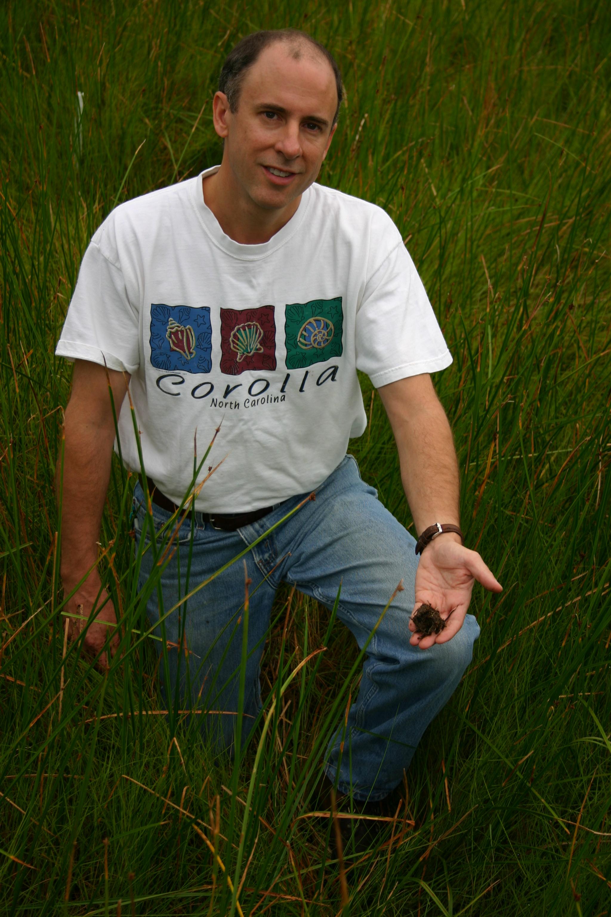 Pat Megonigal, biogeochemist and soil scientist at SERC. (Credit: SERC)