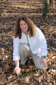 Melissa McCormick with cranefly orchid
