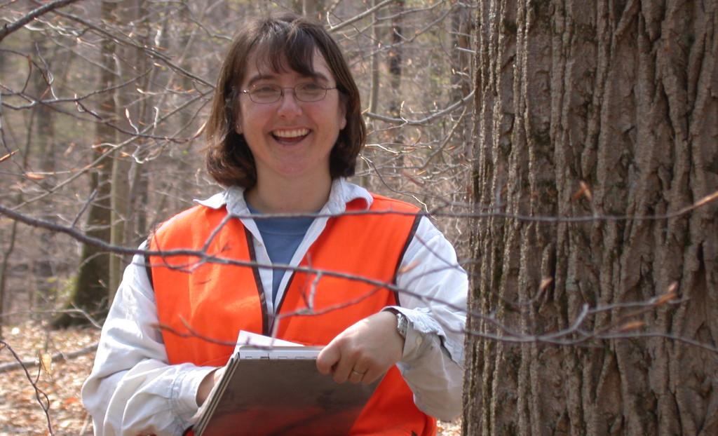 Dawn Miller in forest