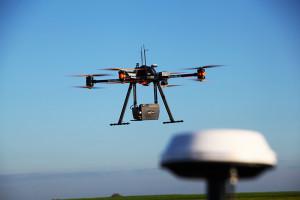 Airborne LiDAR survey being performed in Belgium, November 2015